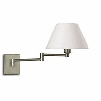 Moderne Wandleuchte / Stoff / Messing / Stahl