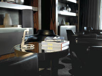 Tischlampe / modern / Aluminium / Stoff