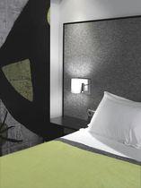 Moderne Wandleuchte / Stoff / Stahl / LED