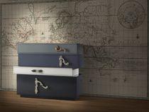 Kommode / Originelles Design / Holz / Grau