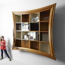 Wandmontierte Bibliothek / Originelles Design / Holz