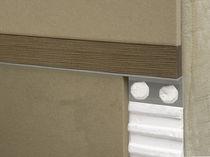 Holz-Trennprofil / aus Aluminium / für Fliesen / mit Holzleiste