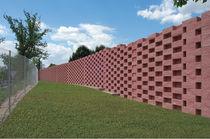 Massiv-Betonstein / für Vorge te für Stützmauern
