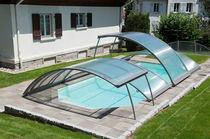Nedriege Schwimmbadüberdachung / teleskopisch / Aluminium / motorisiert