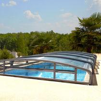 Nedriege Schwimmbadüberdachung / teleskopisch / aus Aluminium / motorisiert
