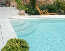 Erdverlegtes Schwimmbecken / Beton / Schalung Polymer / Außenbereich