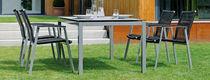 Moderner Stuhl / Textilene / Armlehnen / Garten