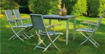 Moderner Stuhl / Textilene / zum Klappen / Garten