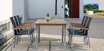 Moderner Stuhl / Textilene / Stapel / Garten