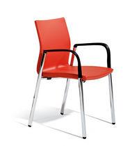 Konferenzstuhl mit Armlehnen / Polster / mit Rollen / höhenverstellbar
