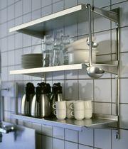 Wandmontiertes Regal / modern / Metall / zur gewerblichen Nutzung