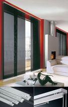 Vorhangschiene mit manueller Bedienung / für Deckenmontage / zur Wandbefestigung / für Flächenvorhänge