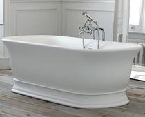 Freistehende Badewanne / oval / Verbundwerkstoff