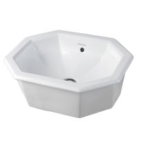 Einbauwaschbecken / achteckig / Keramik / modern