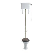 Freistehendes WC / Keramik / mit Hochspülung