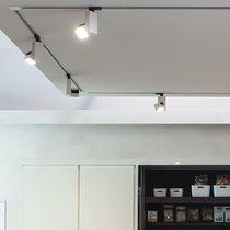 LED-Schienenleuchte / quadratisch / Metall / für Museen
