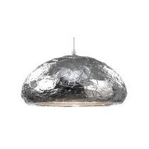Hängelampe / modern / aus Acryl / verchromtes Metall