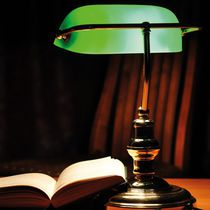 Bürolampe / klassisch / Glas / Metall