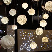 Moderner Lüster / geblasenes Glas / LED