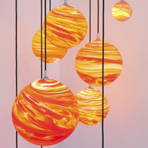 Lüster / originelles Design / geblasenes Glas
