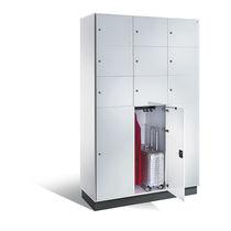 Stahl-Garderobenschrank / für öffentliche Einrichtungen / Gewerbe