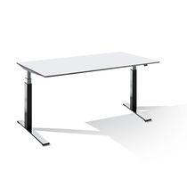 Schreibtisch für Open Space / Holzfurnier / Metall / HPL