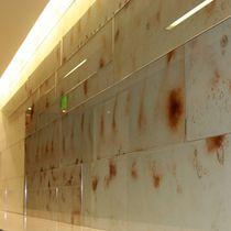 Glasplatte für Wände / für Innenausbau / für Gebäude / silberfarben