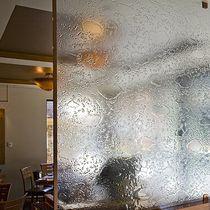 Glasplatte für Trennwandsysteme / für Innenausbau / für Restaurant / Dekor