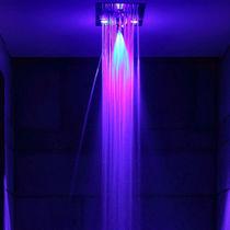 Edelstahl-Dusche / für Chromotherapie / für Spa Bereich / rechteckig