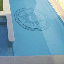 Mosaikfliese für Schwimmbecken / Boden / Glas / Motiv