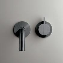 Einhebelmischer für Waschbecken / wandmontiert / Edelstahl / Kupfer