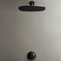 Wandmontiertes Duschsystem / modern / Regenstrahl