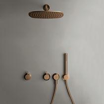 Wandmontage-Duschsystem / modern / mit Handbrause / mit festem Brausekopf