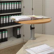 Moderner Arbeitstisch / Metall / aus Buche / aus Sperrholz