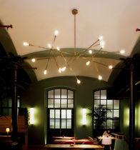 Lüster / originelles Design / aus Messing / Glühlampen / handgefertigt