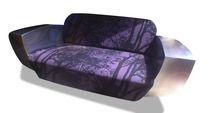 Sofa / originelles Design / aus Leinen / aus Edelstahl / für Hotels