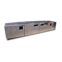 Modernes Sideboard / aus Edelstahl / nach Maß