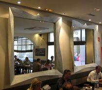 Wandmontierter Spiegel / Neobarock / rechteckig / quadratisch