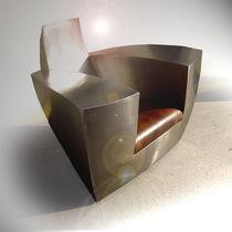 Sessel / originelles Design / Unsichtbare Rollen / Armlehnen / nach Maß