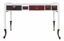 Schreibtisch aus Eiche / lackiertes Holz / originelles Design / nach Maß