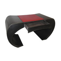 Stahlschreibtisch / Leder / originelles Design / für berufliche Nutzung
