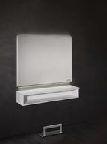 Moderner Schminktisch / Aluminium / wandmontiert / für Frisörsalon