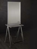 Moderner Schminktisch / Holz / für Frisörsalon / 2 Plätze