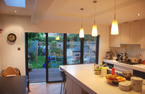 Stapelbare Schiebe Terrassentür / Aluminium / Doppelverglasung / 3-Fach-Verglasung