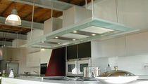 Inseldunstabzug / mit integrierter Beleuchtung / originelles Design