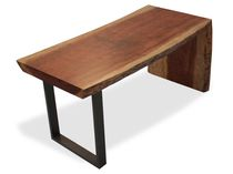 Moderner Arbeitstisch / Holz / Metall / rechteckig