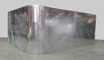 Pflanzkübel / verzinkter Stahl / rechteckig / modern / für öffentliche Bereiche