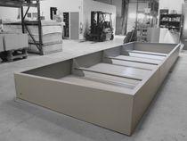 Stahl-Pflanzkübel / nach Maß / modulierbar / für öffentliche Bereiche