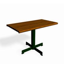 Klassischer Tisch / aus Kiefer / Stahl / rechteckig