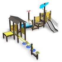 Holz-Spielplatzgerät / HPL / für Spielplätze / behindertenfreundlich